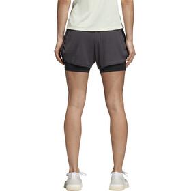 adidas 2In1 Chill Naiset Juoksushortsit , harmaa
